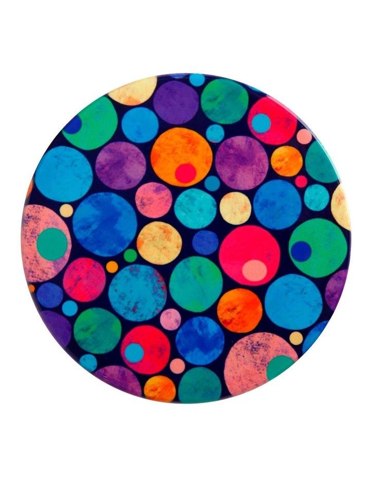 Kasey Rainbow Be Kind Ceramic Coaster 10cm Dots image 1