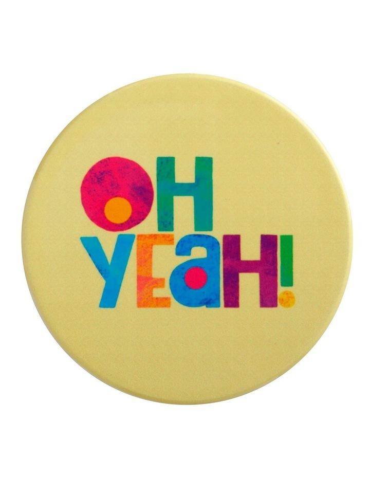 Kasey Rainbow Be Kind Ceramic Coaster 10cm Oh Yeah image 1