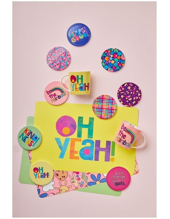 Kasey Rainbow Be Kind Ceramic Coaster 10cm Oh Yeah image 2