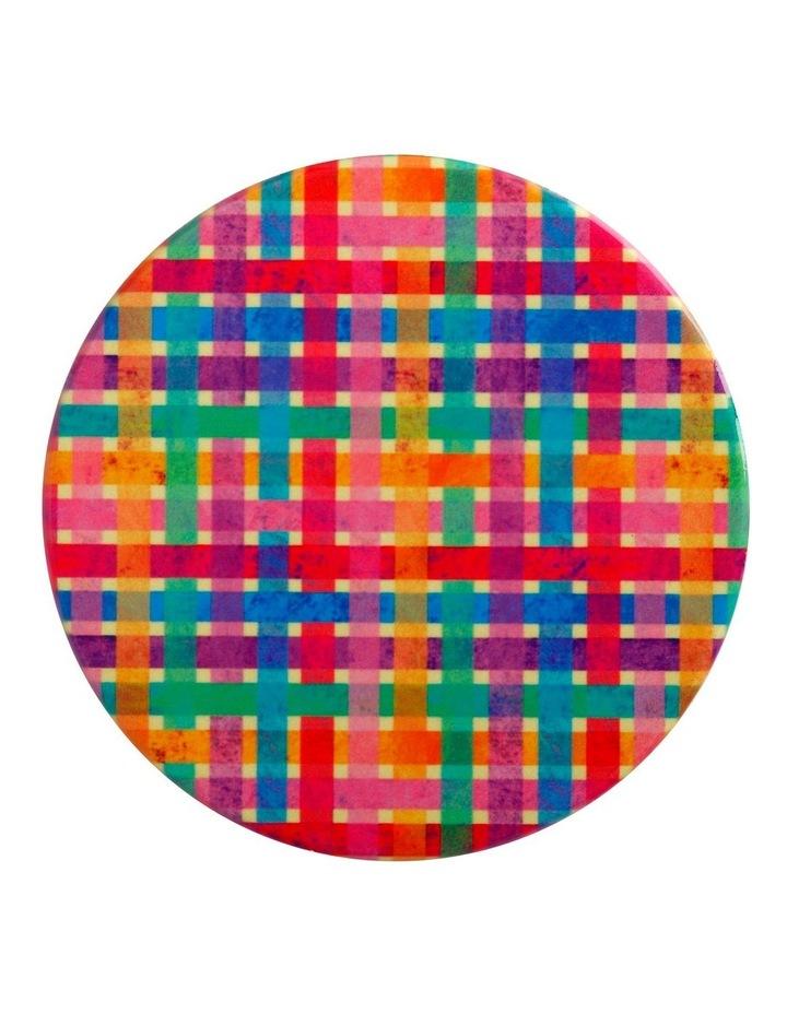 Kasey Rainbow Be Kind Ceramic Coaster 10cm Plaid image 1