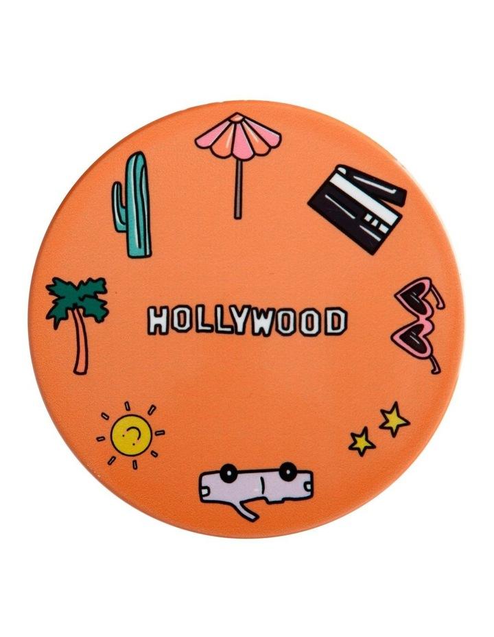 Megan McKean Cities Ceramic Round Coaster 10.5cm Los Angeles image 1