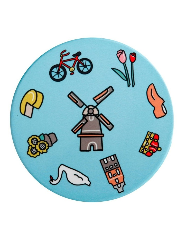 Megan McKean Cities Ceramic Round Coaster 10.5cm Amsterdam image 1