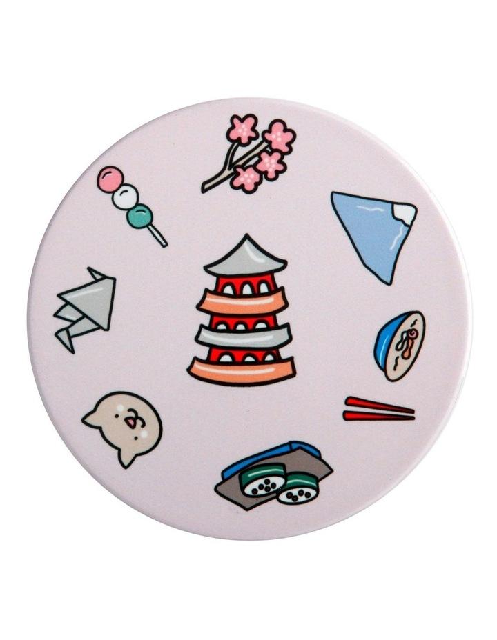 Megan McKean Cities Ceramic Round Coaster 10.5cm Tokyo image 1