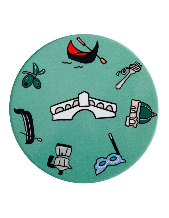 Megan McKean Cities Ceramic Round Coaster 10.5cm Venice image 1