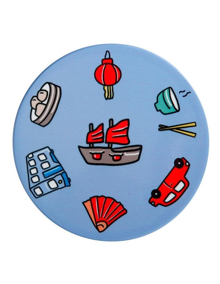 Megan McKean Cities Ceramic Round Coaster 10.5cm Hong Kong image 1