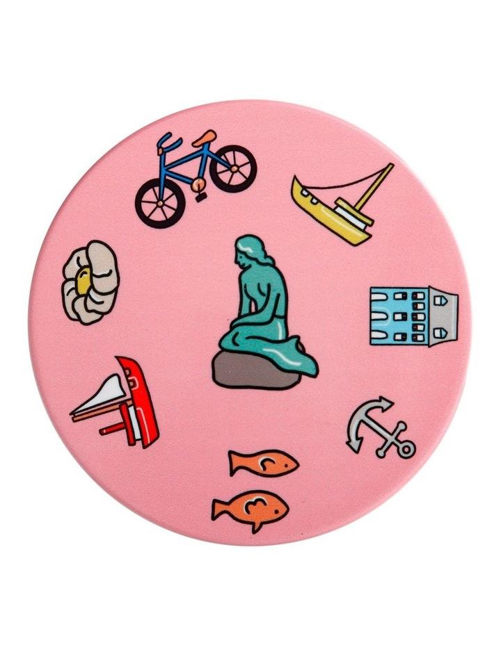 Megan McKean Cities Ceramic Round Coaster 10.5cm Copenhagen image 1