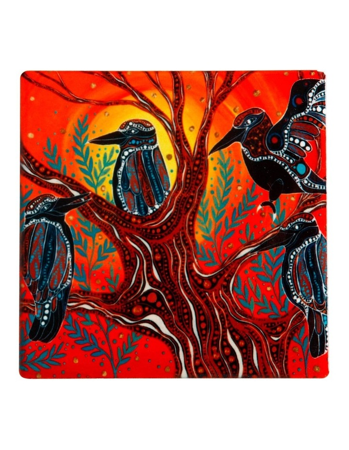 Melanie Hava Journeys Ceramic Coaster 10cm Kookaburras image 1