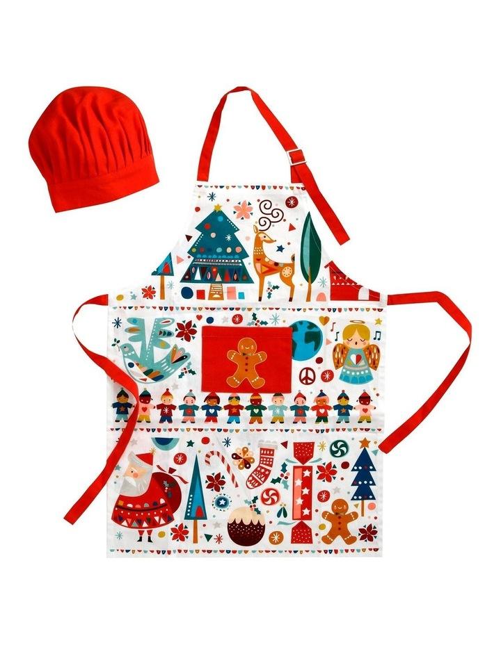 Festive Friends Children's Apron & Chef Hat Set image 1