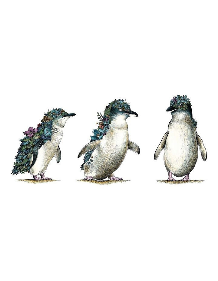 Marini Ferlazzo Australian Families Tea Towel 50x70cm Penguin Parade image 1