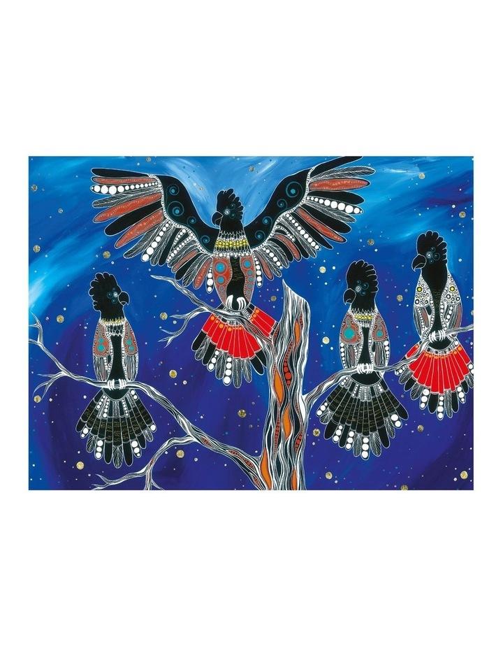 Melanie Hava Jugaig-Bana-Wabu Tea Towel 50x70cm Black Cockatoos image 1