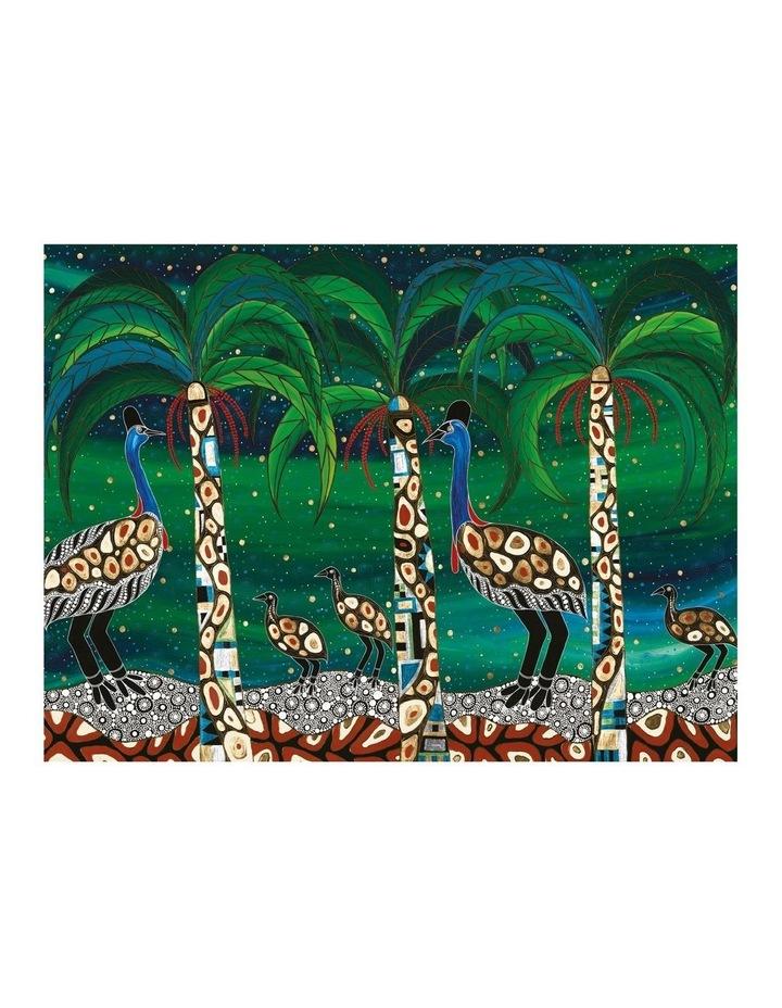 Melanie Hava Jugaig-Bana-Wabu Tea Towel 50x70cm Cassowaries Home image 1
