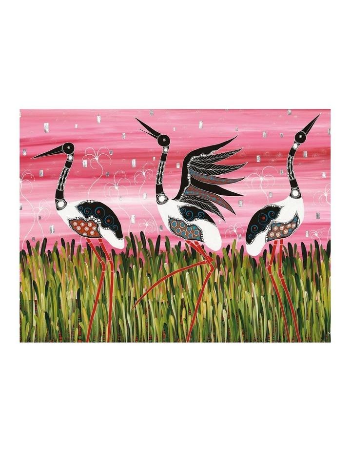 Melanie Hava Jugaig-Bana-Wabu Tea Towel 50x70cm Jabirus Pink image 1