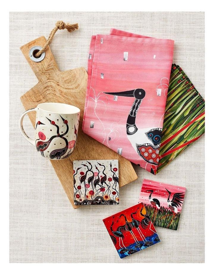 Melanie Hava Jugaig-Bana-Wabu Tea Towel 50x70cm Jabirus Pink image 2