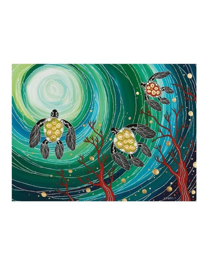 Melanie Hava Jugaig-Bana-Wabu Tea Towel 50x70cm Turtles image 1