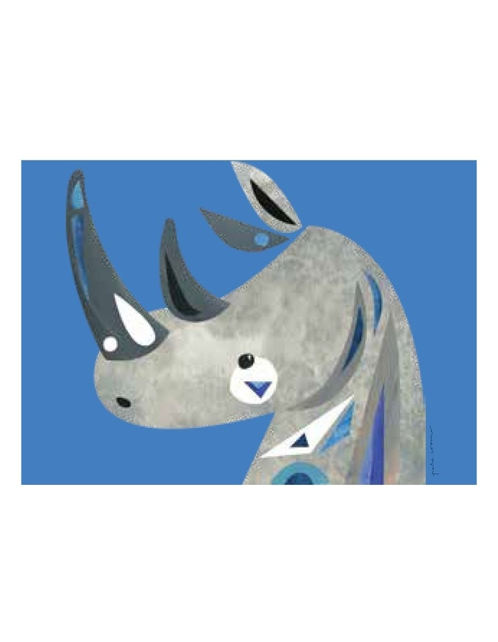 Pete Cromer Wildlife Tea Towel 50x70cm Rhino image 1