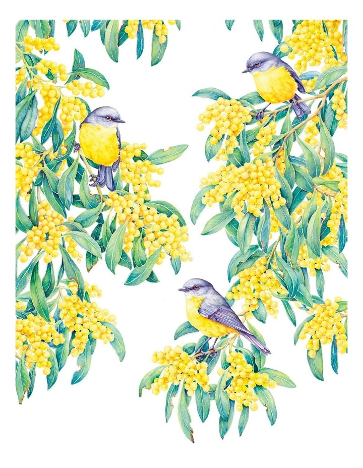 Royal Botanic Gardens Victoria Garden Friends 50x70cm Tea Towel in Robin White Print image 1