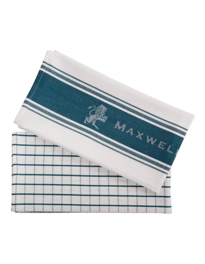 Epicurious Tea Towel 50x70cm Set of 2 Teal image 1