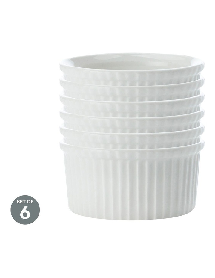 White Basics Ramekin 12cm Set of 6 image 1