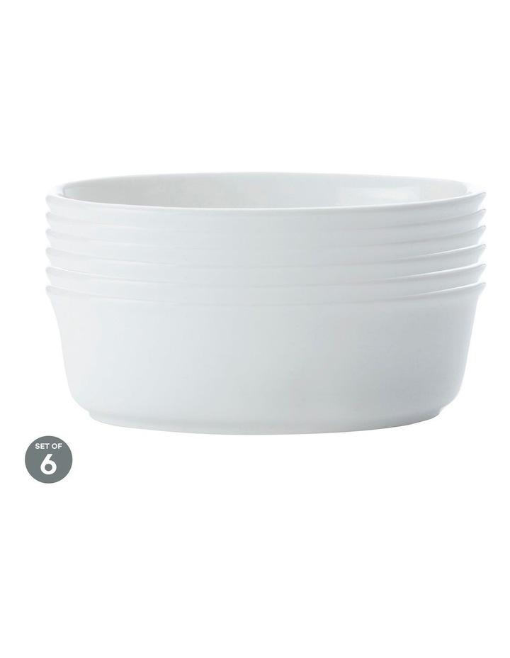 White Basics Pie Dish Oval 18cm Set of 6 image 1