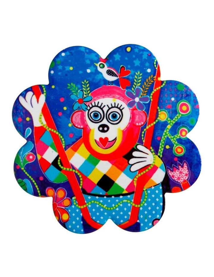 Donna Sharam Rainbow Jungle Ceramic Flower Coaster 10cm Rainbow Unicorn image 1
