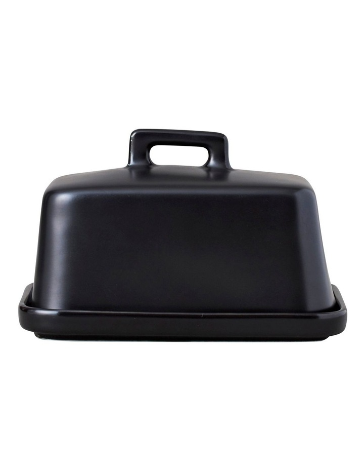 Epicurious Gift Boxed Butter Dish in Black image 1