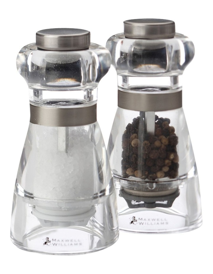 Dynasty Acrylic Salt & Pepper Mill Set 11cm Gift Boxed image 1