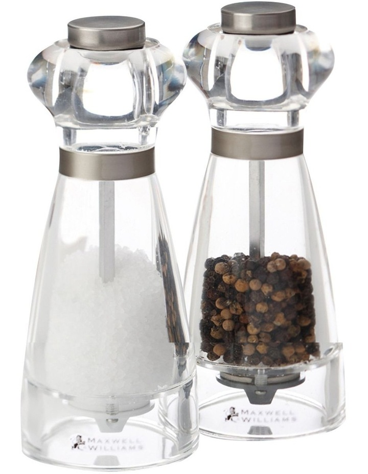 Dynasty Acrylic Salt & Pepper Mill Set 16cm Gift Boxed image 1