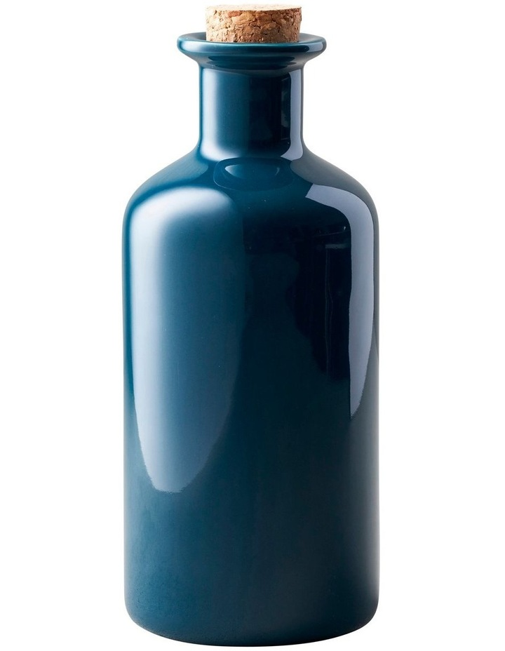 Epicurious Oil Bottle Cork Lid 500ML Teal Gift Boxed image 1