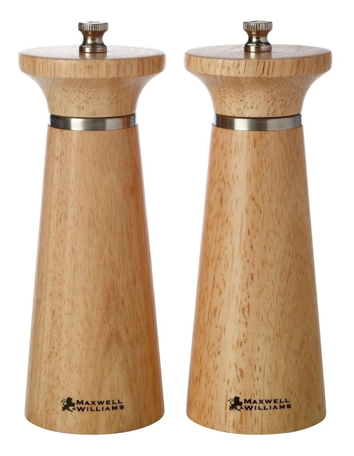 Oslo 16cm Gift Boxed Salt & Pepper Mill Set in Natural image 1