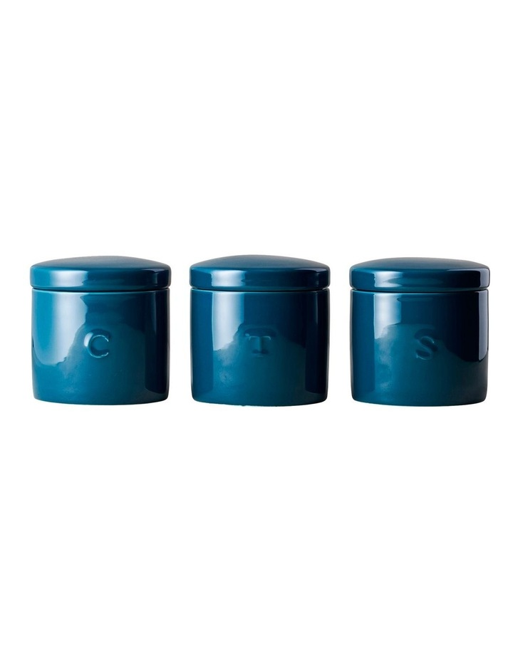 Epicurious Canister 600ML Set of 3 Teal Gift Boxed image 1