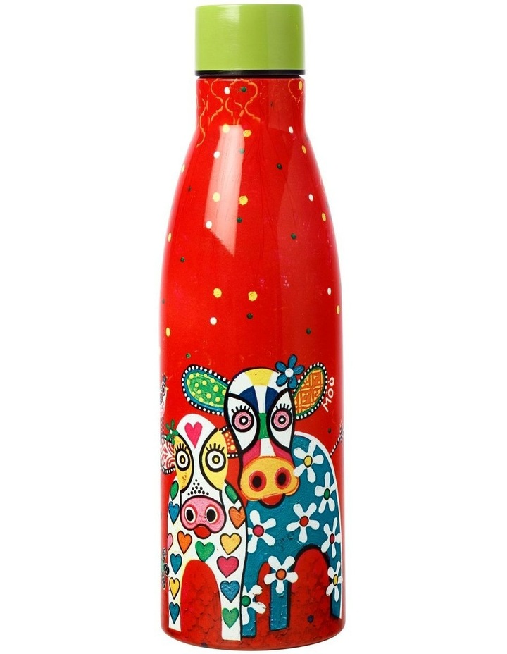 Love Hearts Double Wall Insulated Bottle 500ML Happy Moo Day image 2