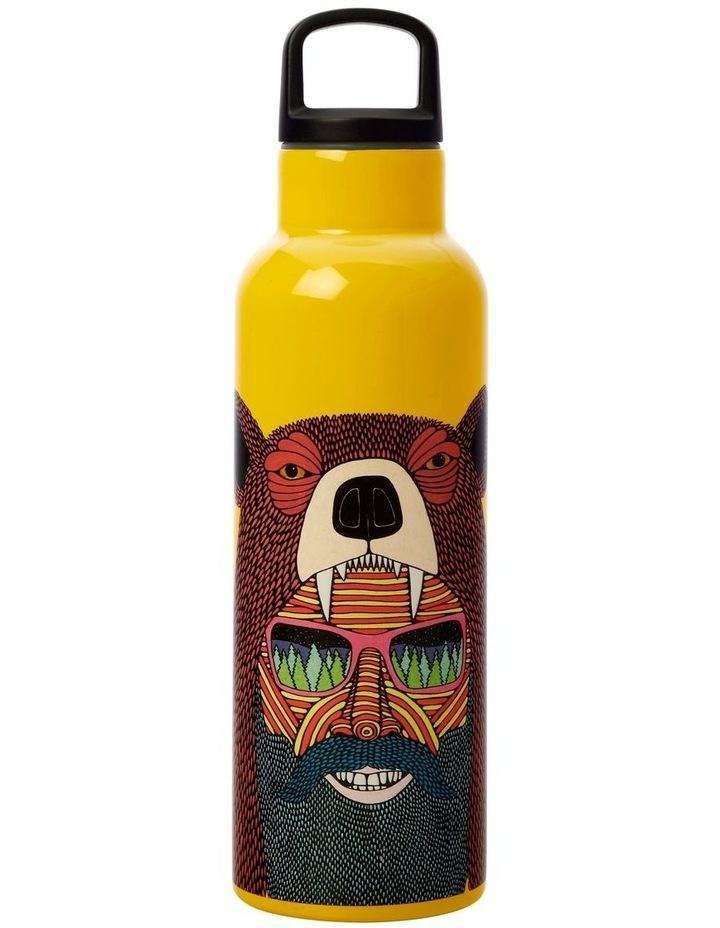 Mulga the Artist Double Wall Insulated Bottle 600ML Bear Man image 1