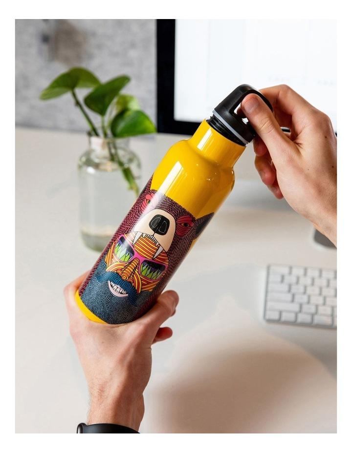 Mulga the Artist Double Wall Insulated Bottle 600ML Bear Man image 2