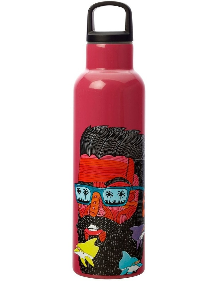 Mulga the Artist Double Wall Insulated Bottle 600ML Dolphin Man image 1