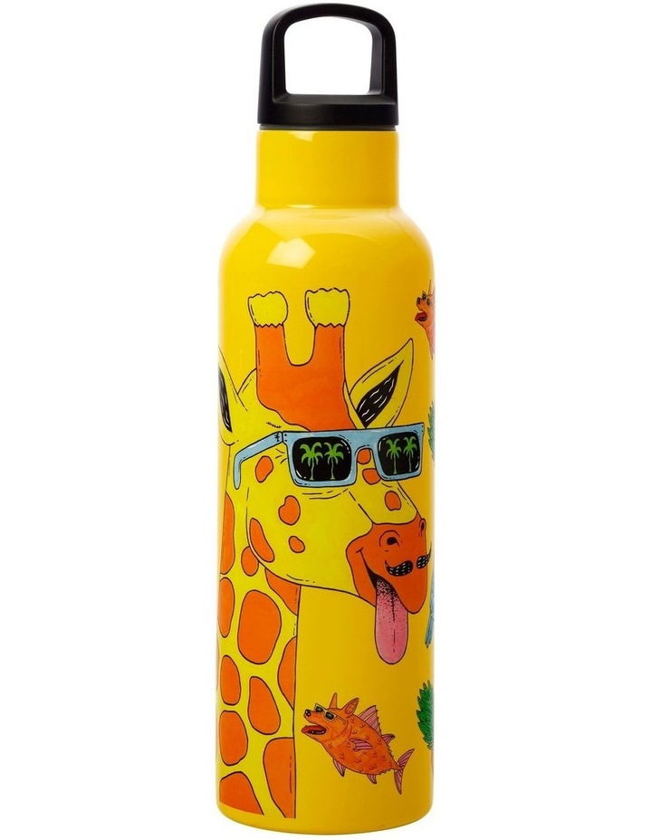 Mulga the Artist Double Wall Insulated Bottle 600ML Giraffe image 1