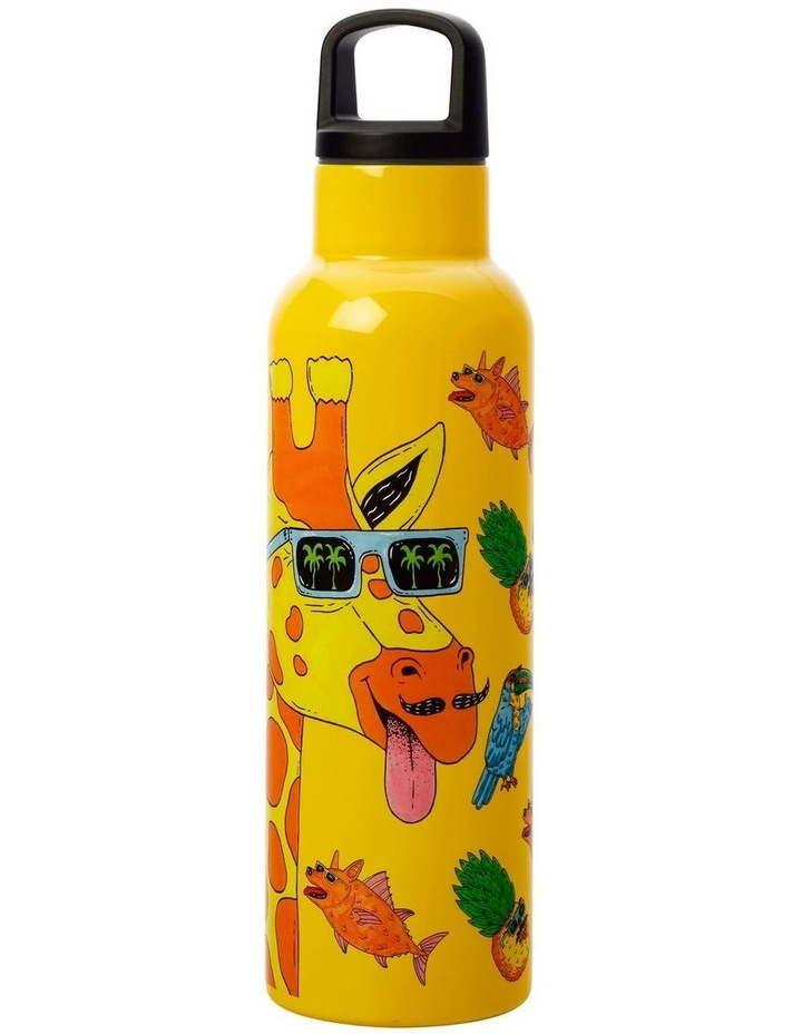 Mulga the Artist Double Wall Insulated Bottle 600ML Giraffe image 2