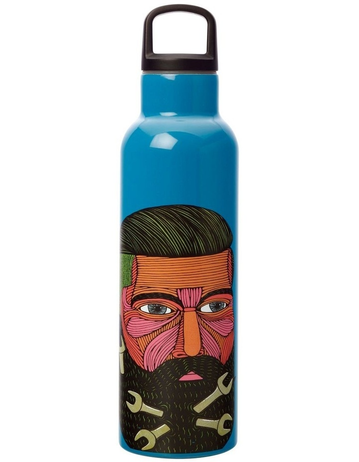 Mulga the Artist Double Wall Insulated Bottle 600ML Spanner Man image 1