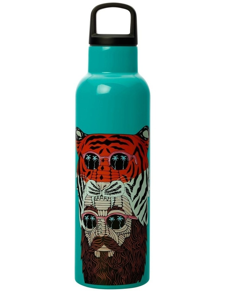 Mulga the Artist Double Wall Insulated Bottle 600ML Tiger Man image 1