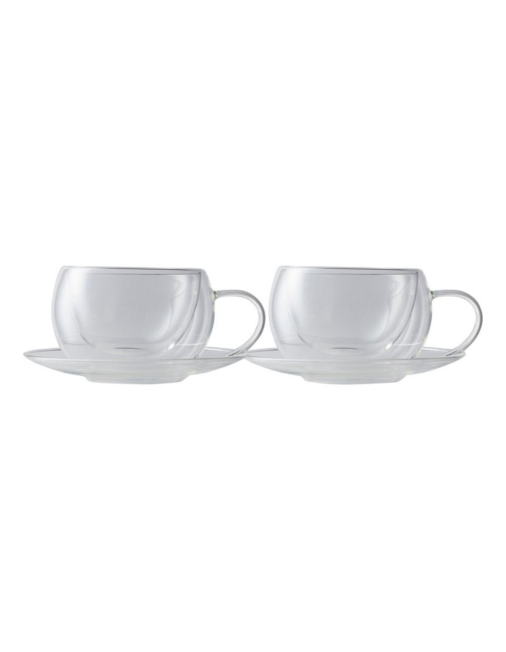 Blend Double Wall Cup & Saucer 270ML Set of 2 Gift Boxed image 1