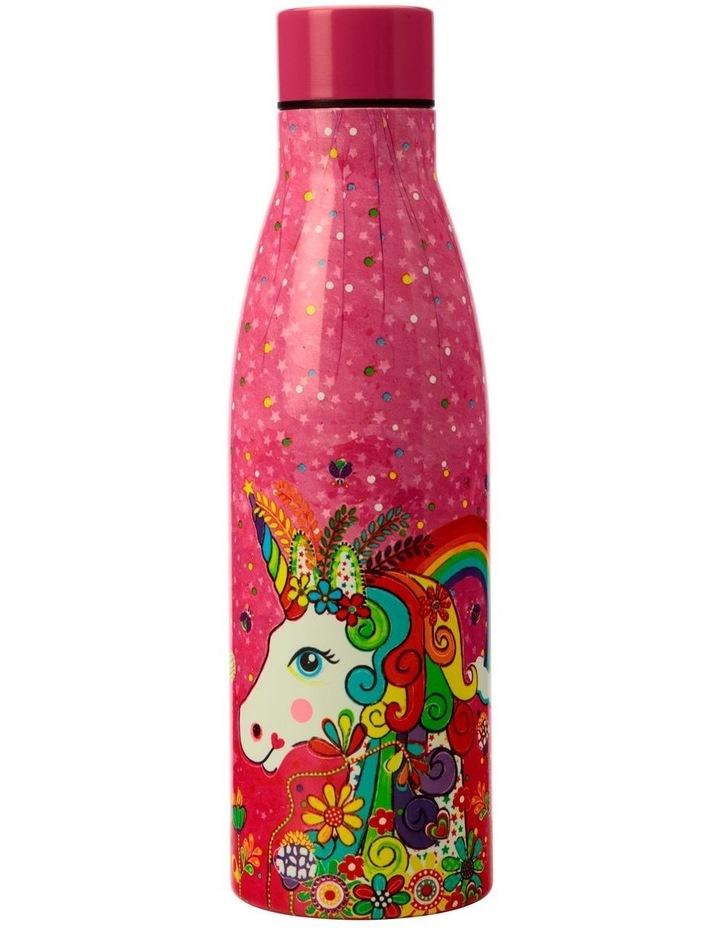 Donna Sharam Rainbow Jungle Double Wall Insulated Bottle 500ML Rainbow Unicorn image 1