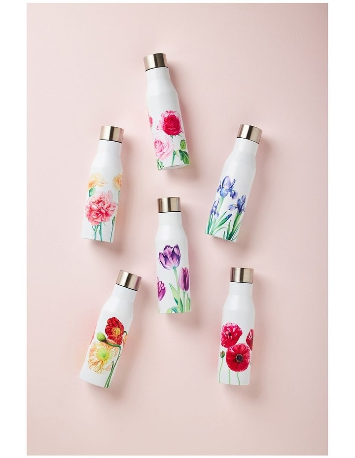 Katherine Castle Floriade Double Wall Insulated Bottle 450ML Cabbage Roses image 2