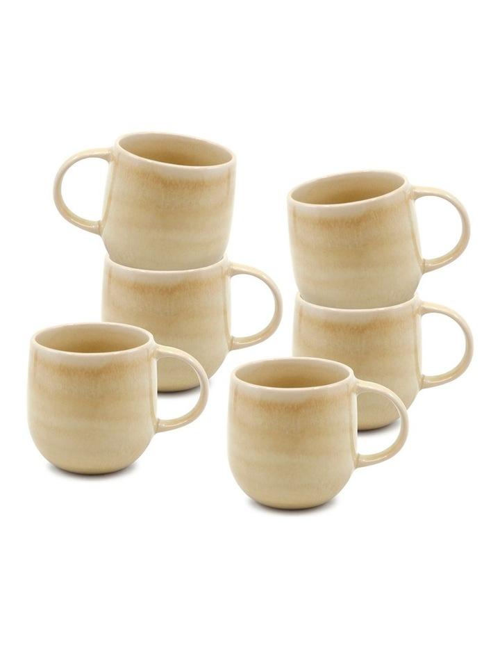 NAOKO Mug - 380ml - Butter - Set of 6 image 1