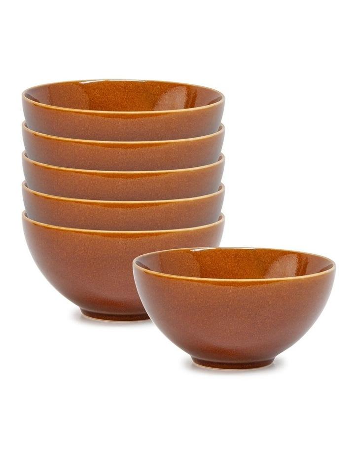 OSAKA Bowl - 17cm - Amber - Set of 6 image 1