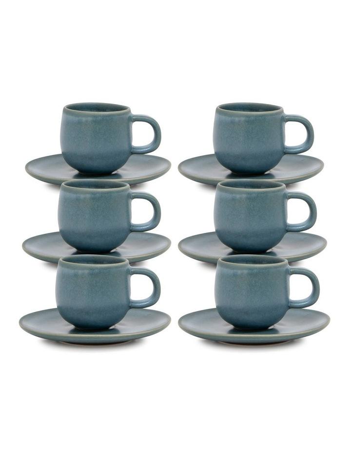 Hue Espresso Cup & Saucer - 85ml - Sage - Set of 6 image 1