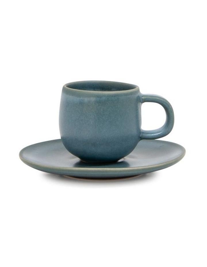 Hue Espresso Cup & Saucer - 85ml - Sage - Set of 6 image 2