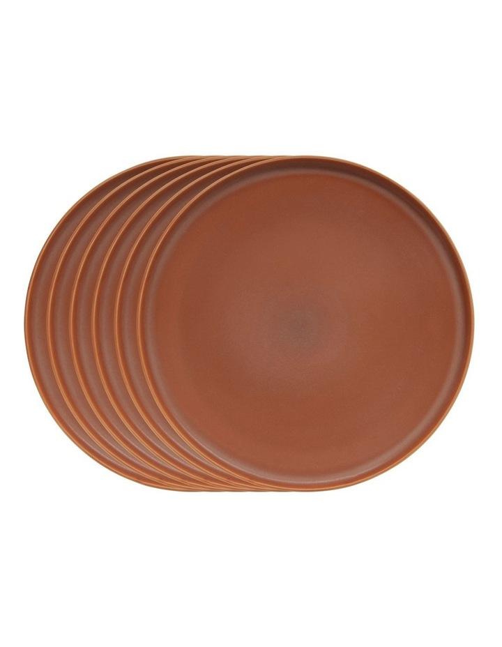 Hue Dinner Plate - Rust - Set of 6 - 27.5cm image 1
