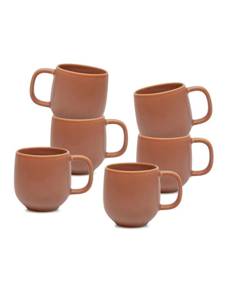 Hue Mug - 380ml - Rust - Set of 6 image 1