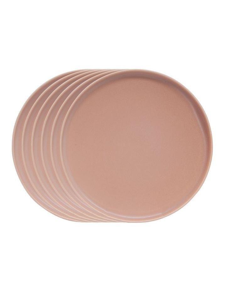 Hue Side Plate - Blush - Set of 6 - 20cm image 1