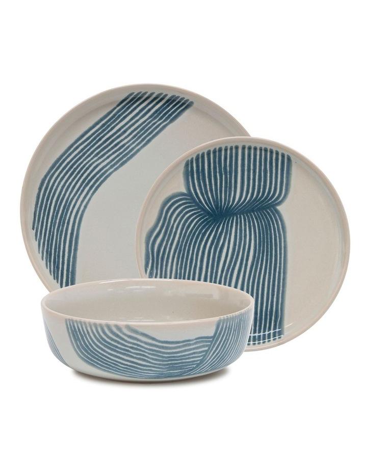 Sketch Dinner Set - 12-Piece - Blue image 1