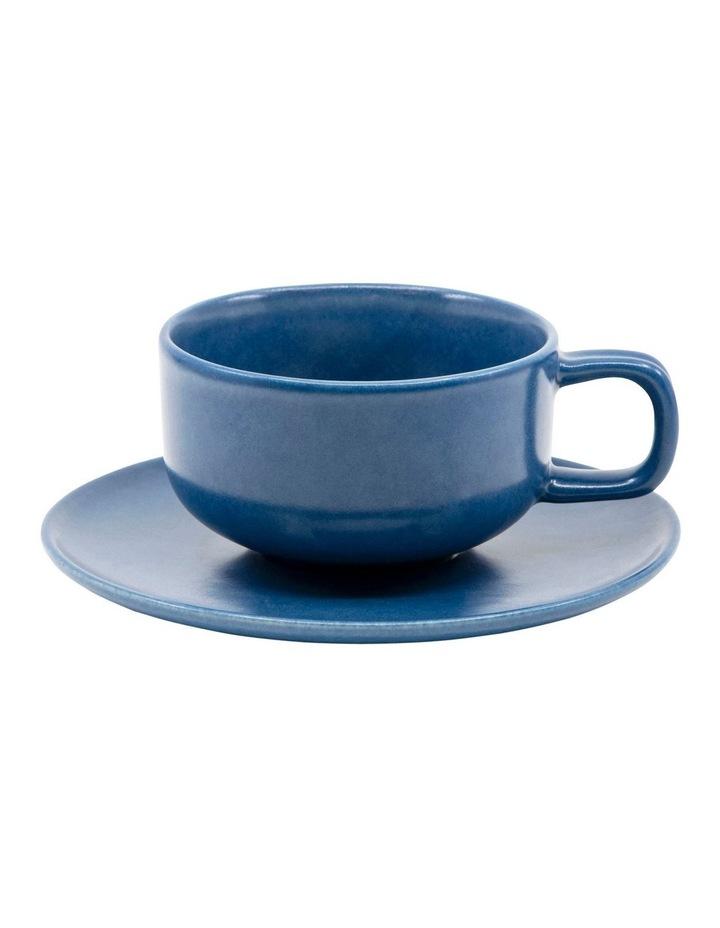 Hue Tea Cup and Saucer Set 200ml/15.5cm - Blue image 1